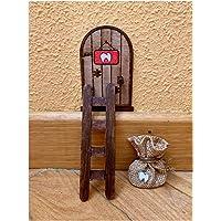 Puerta Ratón Pérez mágica con Carta, Escalera y Bolsita. Regalo original niño niña Ratoncito Pérez. Hecho a mano en…