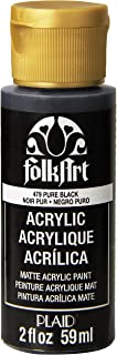 product image for FolkArt Acrylic Paint in Assorted Colors (2 oz), 479, Pure Black