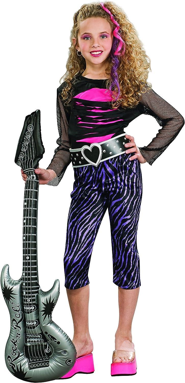 Disfraz de cantante Estrella del Rock para niña, infantil 3-4 años ...