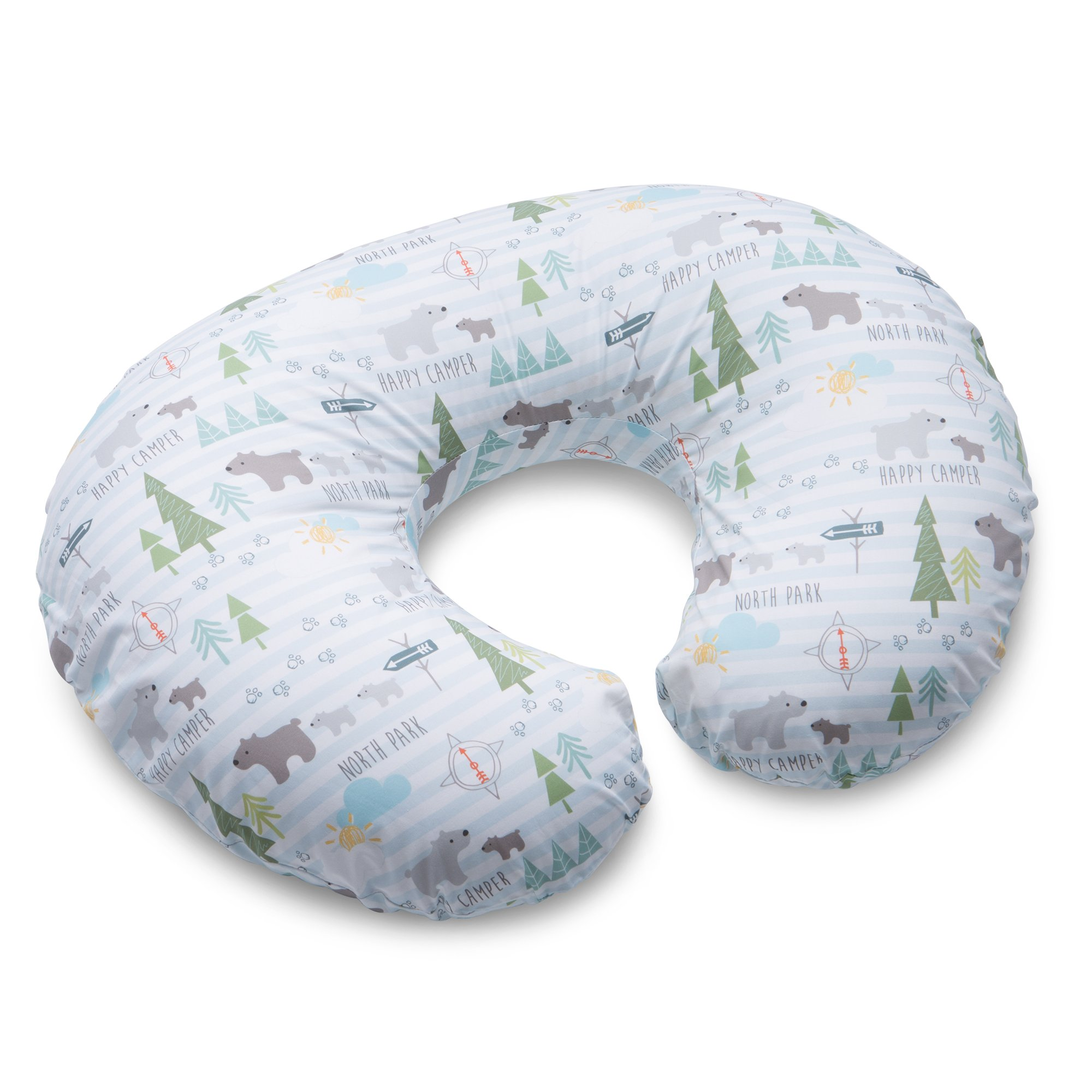 Boppy Original Nursing Pillow and Positioner, North Park, Cotton Blend Fabric with allover fashion by Boppy
