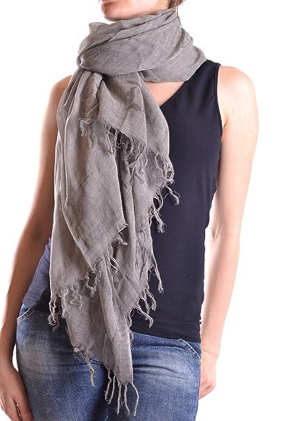 61f696850a DONDUP SCIARPA DONNA MCBI100008O COTONE GRIGIO: Amazon.it: Abbigliamento