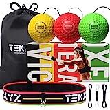 TEKXYZ Reflex Ball Upgraded Set - Comfortable Headband with 3 React Reflex Balls, Great for Reflex, Timing, Accuracy…