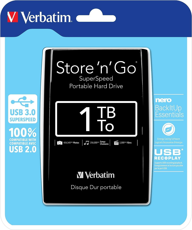 Verbatim Store n Go 2.5 1TB Black GEN 2 USB 3.0 53194 GEN 2 USB 3.0