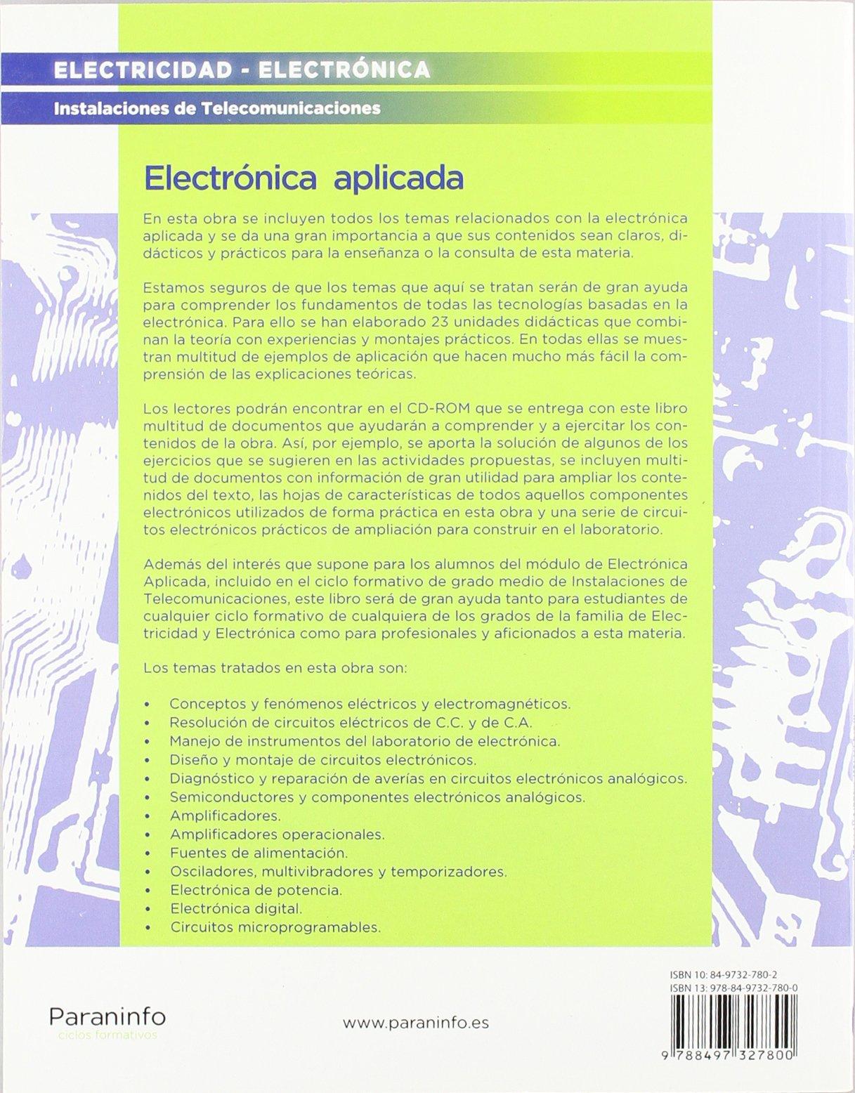 ELECTRONICA APLICADA (NUEVO 2010): Varios: 9788497327800: Amazon.com: Books