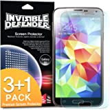 [3+1 FREE/HD CLARITY] Invisible Defender - Samsung Galaxy S5 Screen Protector [Lifetime Warranty]**Premium JAPANESE FILM** High Definition (HD) Clarity Film The World's Best Selling Premium EXTREME CLEAR Screen Protector for Samsung Galaxy S5 / Galaxy SV / Galaxy S V (2014)