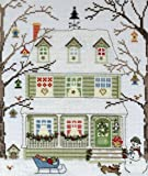 Bothy Threads Neu England Häuser Winter Kreuzstich Kit XSS4