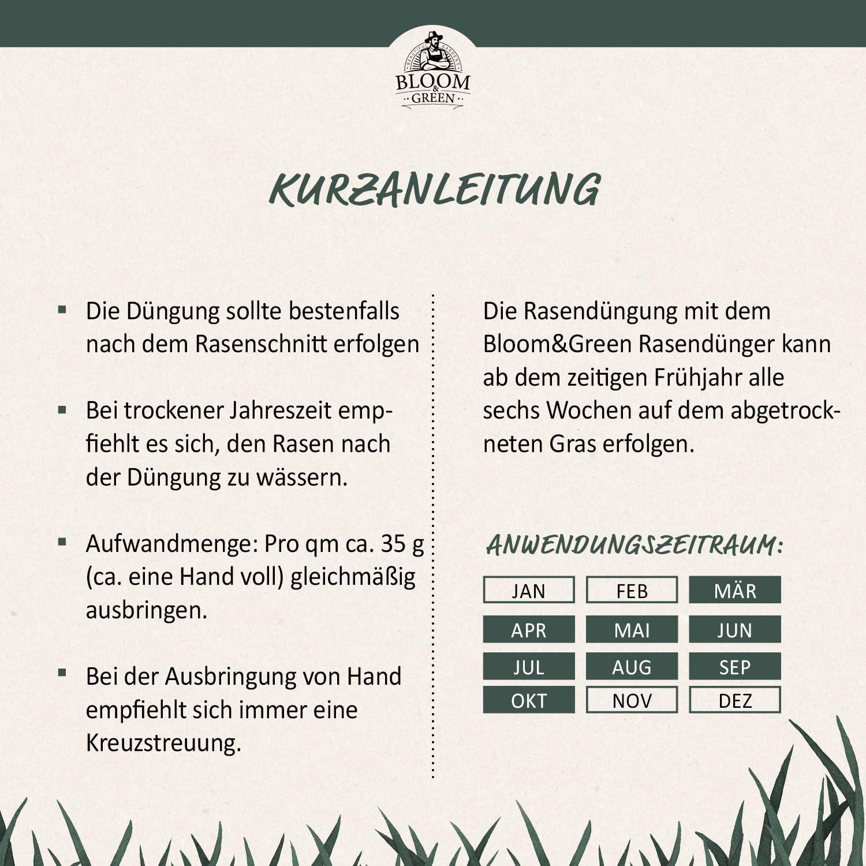 Dngemittel Rasendnger und Gartenpflege I 2,5 kg fr 70m NPK ...