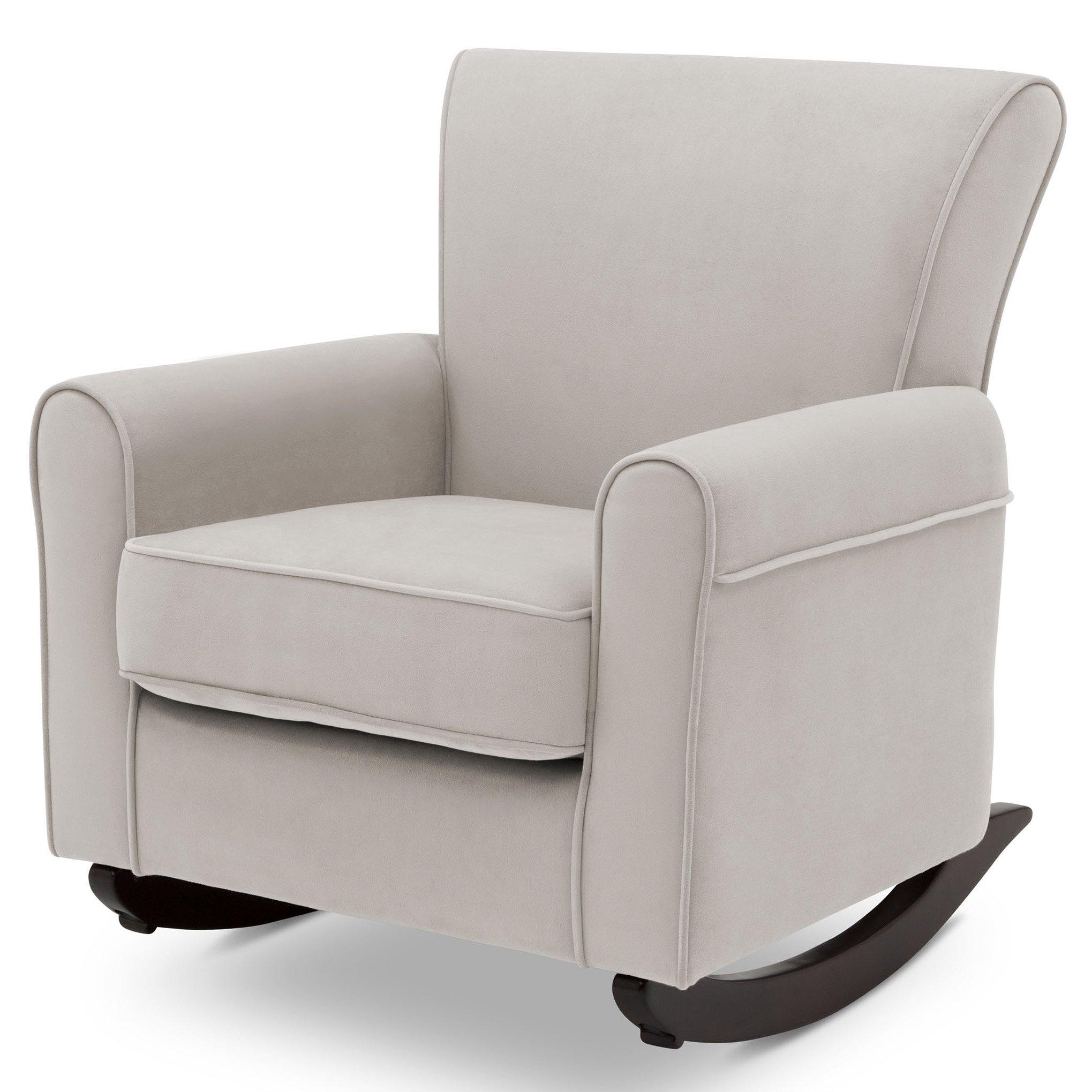 Delta Children Lancaster Rocking Chair featuring Live Smart Fabric, Linen