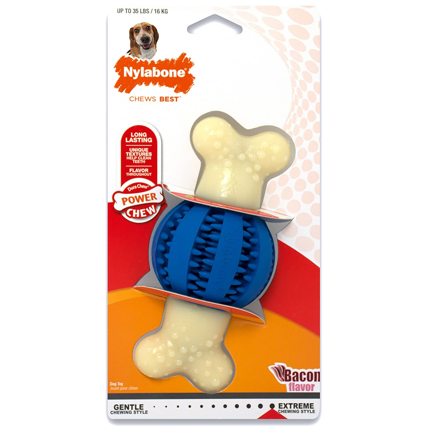 Pet Supplies Pet Chew Toys Nylabone Dura Chew Regular Bacon