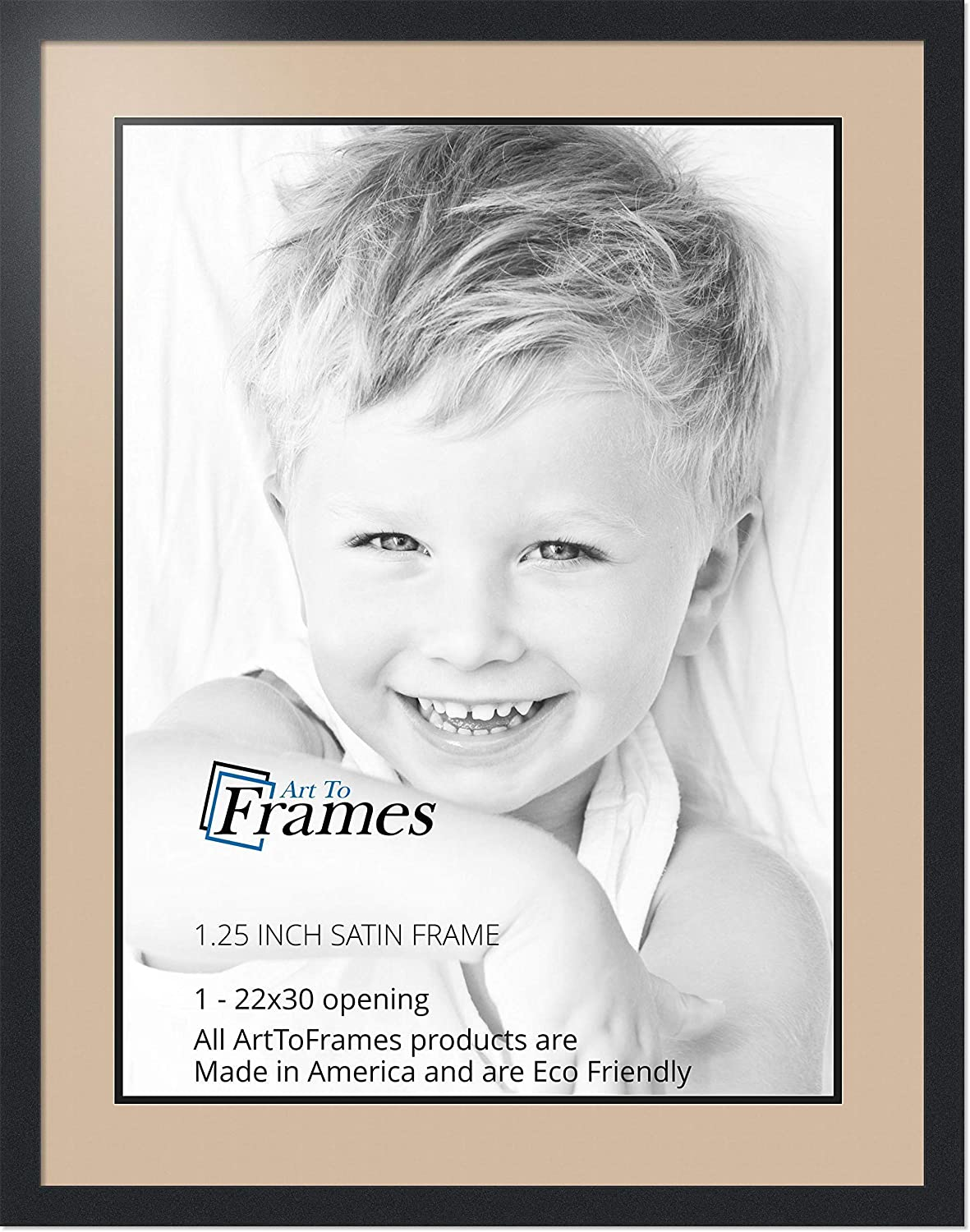 Art to Frames Double-Multimat-1405-782//89-FRBW26079 Collage Photo Frame Double Mat with 1-26x34 Openings and Satin Black Frame