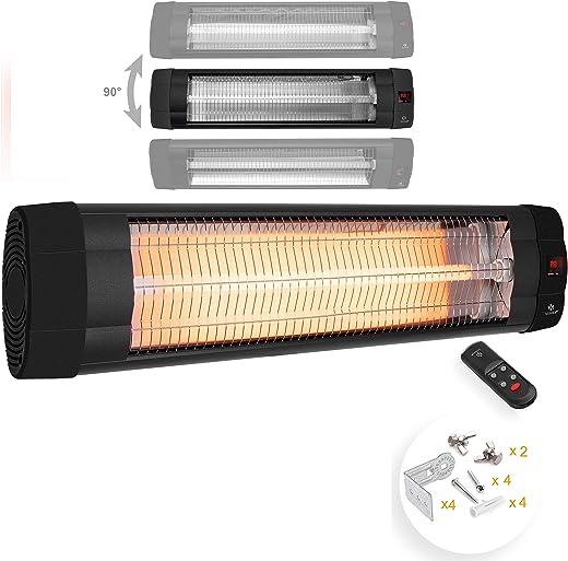 KESSER® Infrarotstrahler 2500 Watt Heizstrahler Terrassenstrahler Wärmestrahler mit Fernbedienung , Wandhalterung , Leistung: 2500W mit…