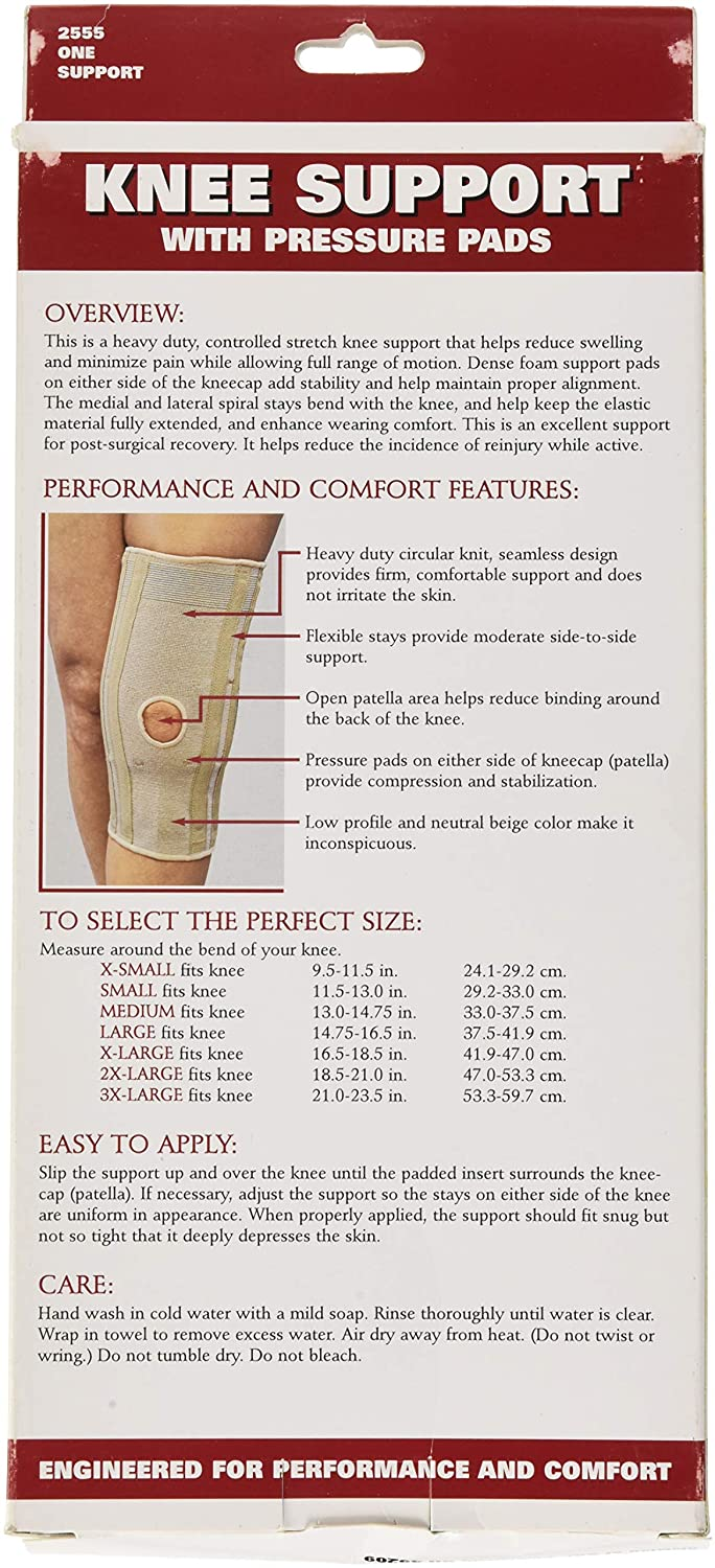 Amazon.com: OTC Knee Support, Pressure Pads, Knit Elastic, 2X-Large: Health & Personal Care