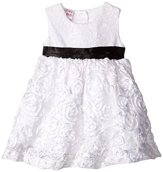 comprar lo mejor nueva especiales comprar online Blueberi Boulevard Baby Girls' SL Lace Overlay Embroidered Dress