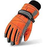 TRIWONDER Ski Gloves for Kids - Windproof Snowboard Winter Warm Gloves Thermal Fleece Snow Gloves for Boys Girls