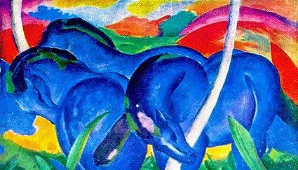 franz marc the large blue horse
