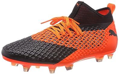 003529319 Puma Men's Future 2.2 Netfit Fg Ag Black-Shock Orange Football Shoes-10 UK