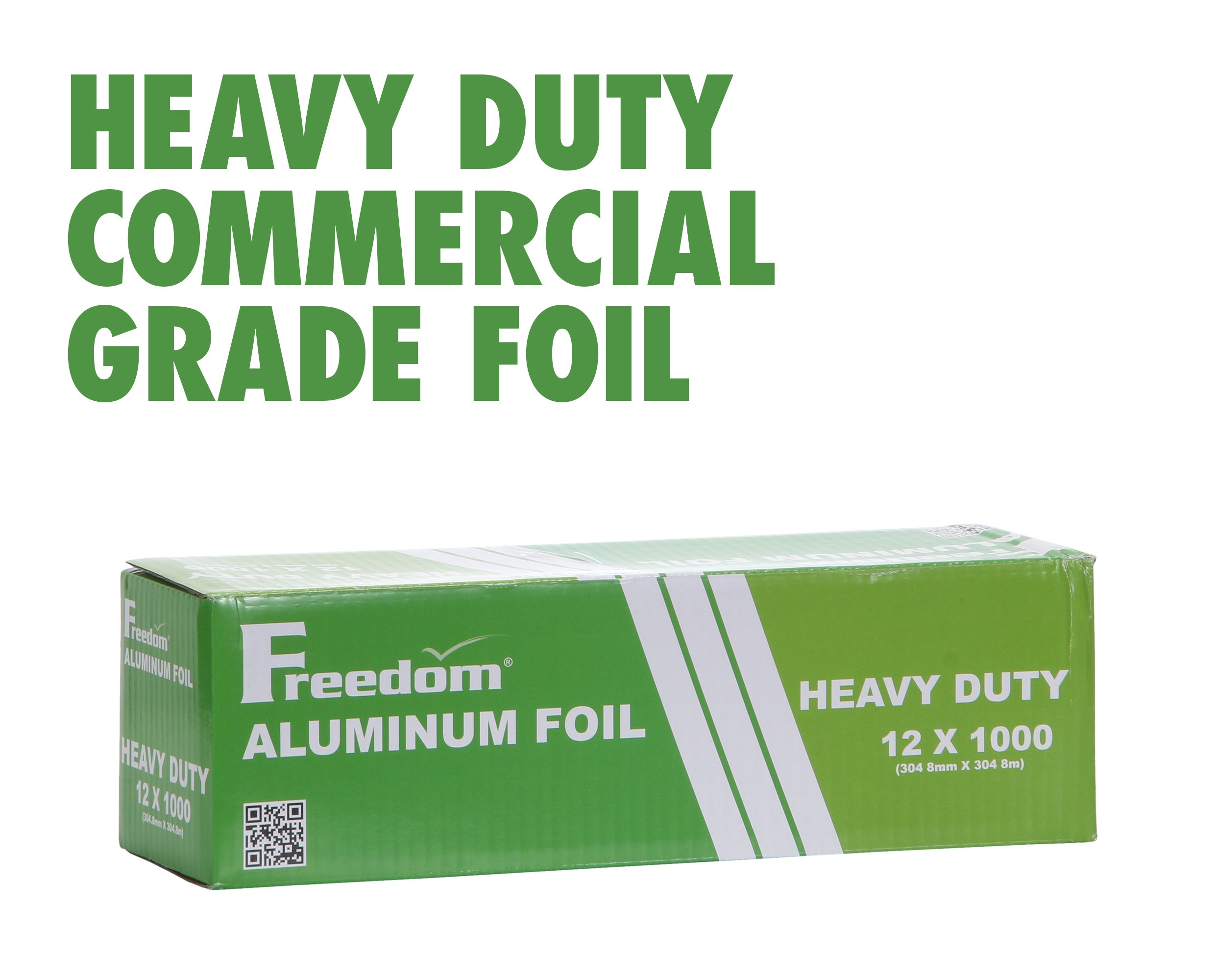Heavy Duty Aluminum Foil Wrap, Commercial Grade 1000ft Foil Wrap for Food Service Industry, Strong Silver foil, 12 inches by 1000 Feet (1-Box)
