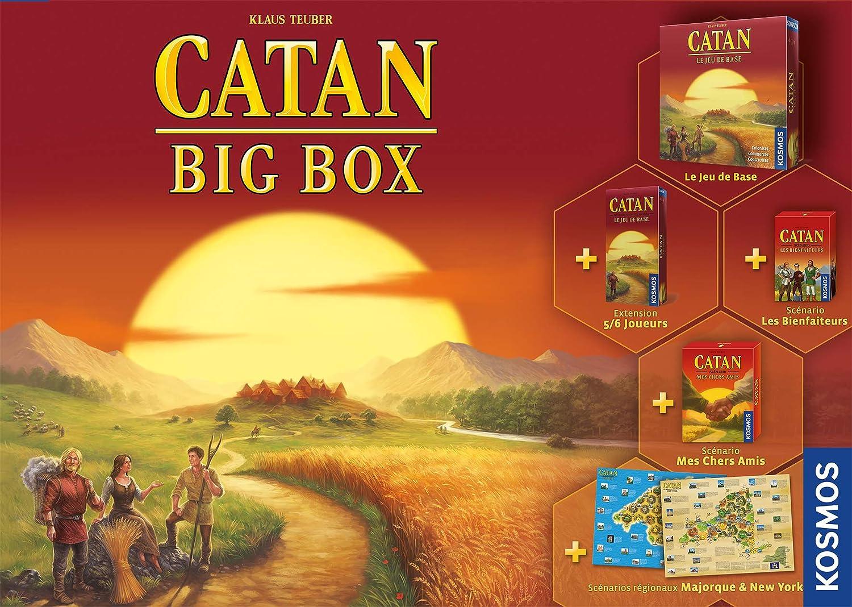 Asmodee - Catan: Big Box, FICATBB01, juego familiar de mesa (versión francesa): Amazon.es: Juguetes y juegos