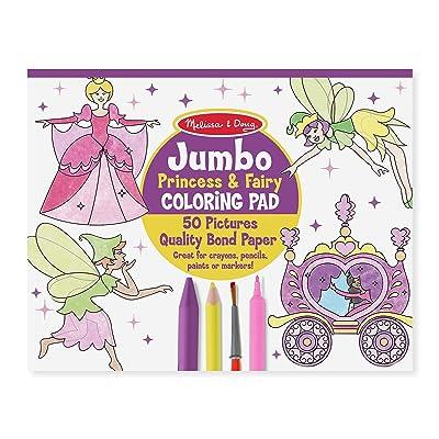 Melissa & Doug Princess & Fairy Jumbo Coloring Pad: Melissa & Doug: Toys & Games