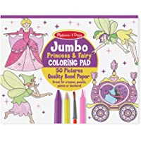 Melissa & Doug Bloc gigante para colorear con princesas y hadas