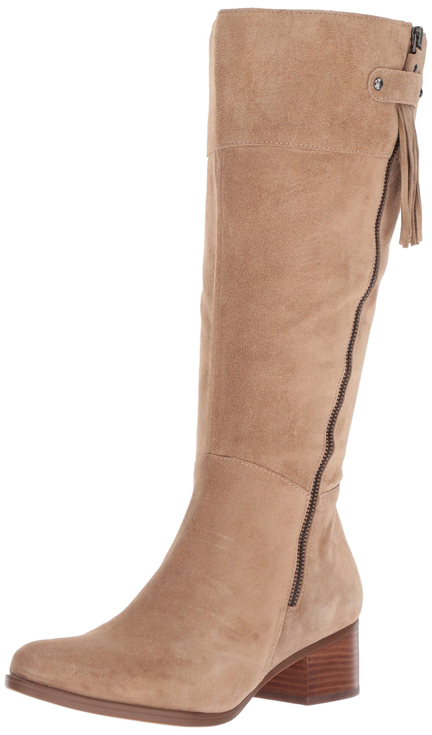 Naturalizer Women's Demi Wc Riding Boot, Oatmeal, 9 M US