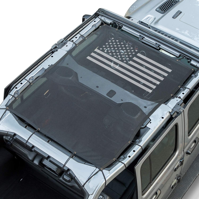 4-Door Camoo For Jeep Wrangler JL Sun Shade Mesh Shade Top Cover ...