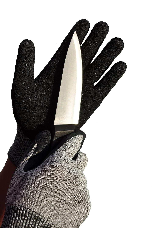 schnittfest Medium 1 klassische K/üchenhandschuhe grau G /& F Cutshield