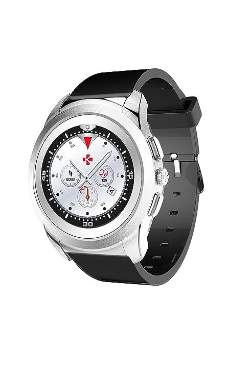 "MyKronoz ZeTime Reloj Inteligente Negro, Plata TFT 3,1 cm (1.22"")"