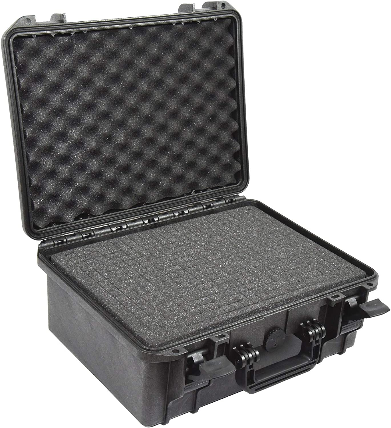 Black with Foam Elephant Elite EL1406 Waterproof Hard Case with Foam for D-SLR and Mirror-Less Camera Kits with Lenses,Audio and Video Equipment Guns,Hard Plastic Case