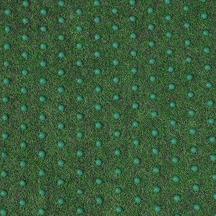 Kunstrasenteppich Fertigrasen mit Noppen Gr/ün Grau Anthrazit 50 x 200 cm, Gr/ün - 630