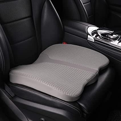 LARROUS Car Memory Foam Heightening Seat Cushion - The Best Car Seat Cushion for Additional Height
