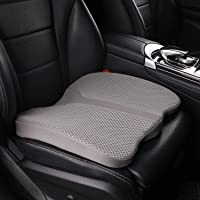 LARROUS Car Memory Foam Heightening Seat Cushion,Tailbone (Coccyx) and Lower Back Pain Relief Cushion,for Office Chair…