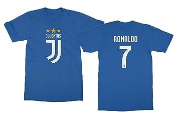 SATOL Fußball Grafik Shirt CR7 Cristiano Ronaldo 7 Trikot Style Herren  T-Shirt (Royal fa1e13f17