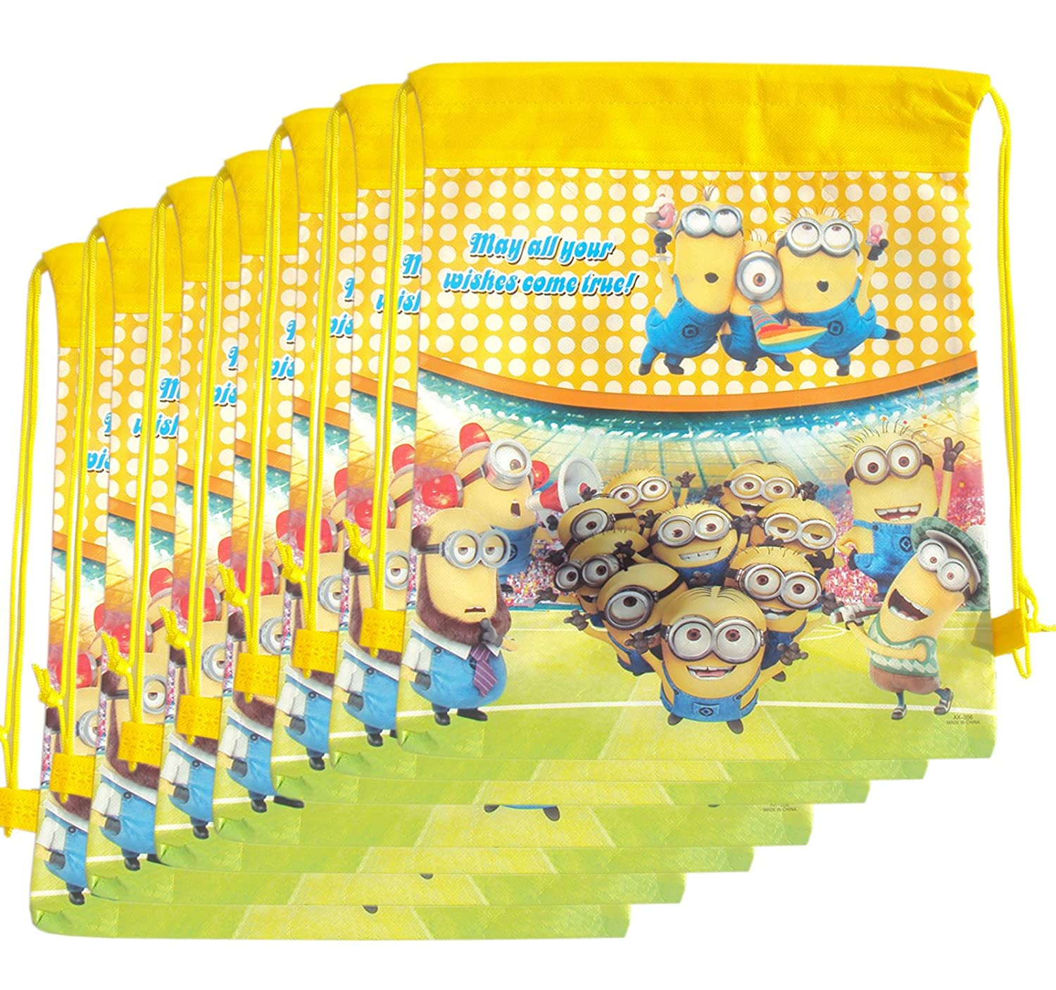 Party favor bags online buy party favor bags best prices in 12 pcs minion dori bag sack bag for birthday return gifts for kids negle Images