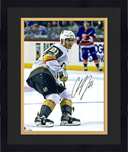 23dcec8f5 Framed Cody Eakin Vegas Golden Knights Autographed 16 quot  x 20 quot   White Jersey Skating Photograph