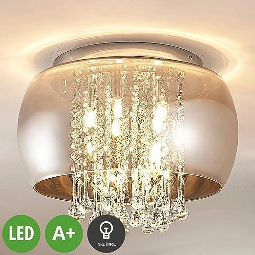 LED Lámpara de techo Joani (Moderno) en Gris hecho de ...