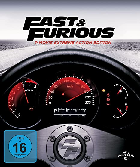 Fast & Furious - 7-Movie Digibook Collection - Limited Edition (+ Bonus DVD) [Blu-ray]