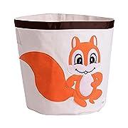 HIYAGON Storage Bin,Cube Hamper Box for Kids Toys Animal Theme Decor Perfect for Baby Nursery(Squirrel)