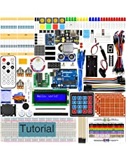 Freenove Ultimate Starter Kit with R3 Board (Compatible with Arduino), 260 Pages Detailed Tutorial, 217 Items, 51 Projects, Solderless Breadboard