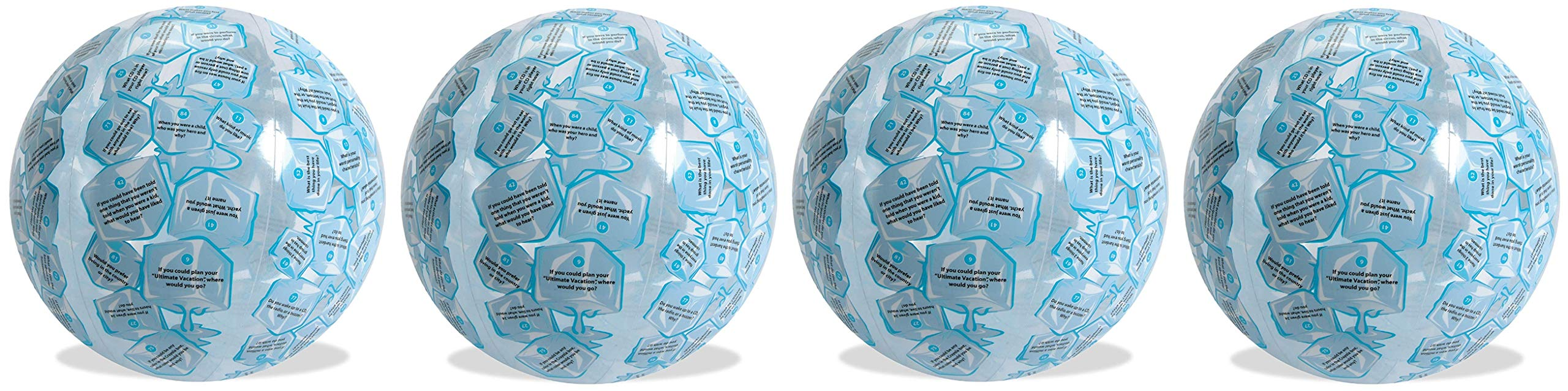 American Educational Vinyl Clever Catch Ice Breaker Intermediate Ball, 24'' Diameter (Fоur Paсk)