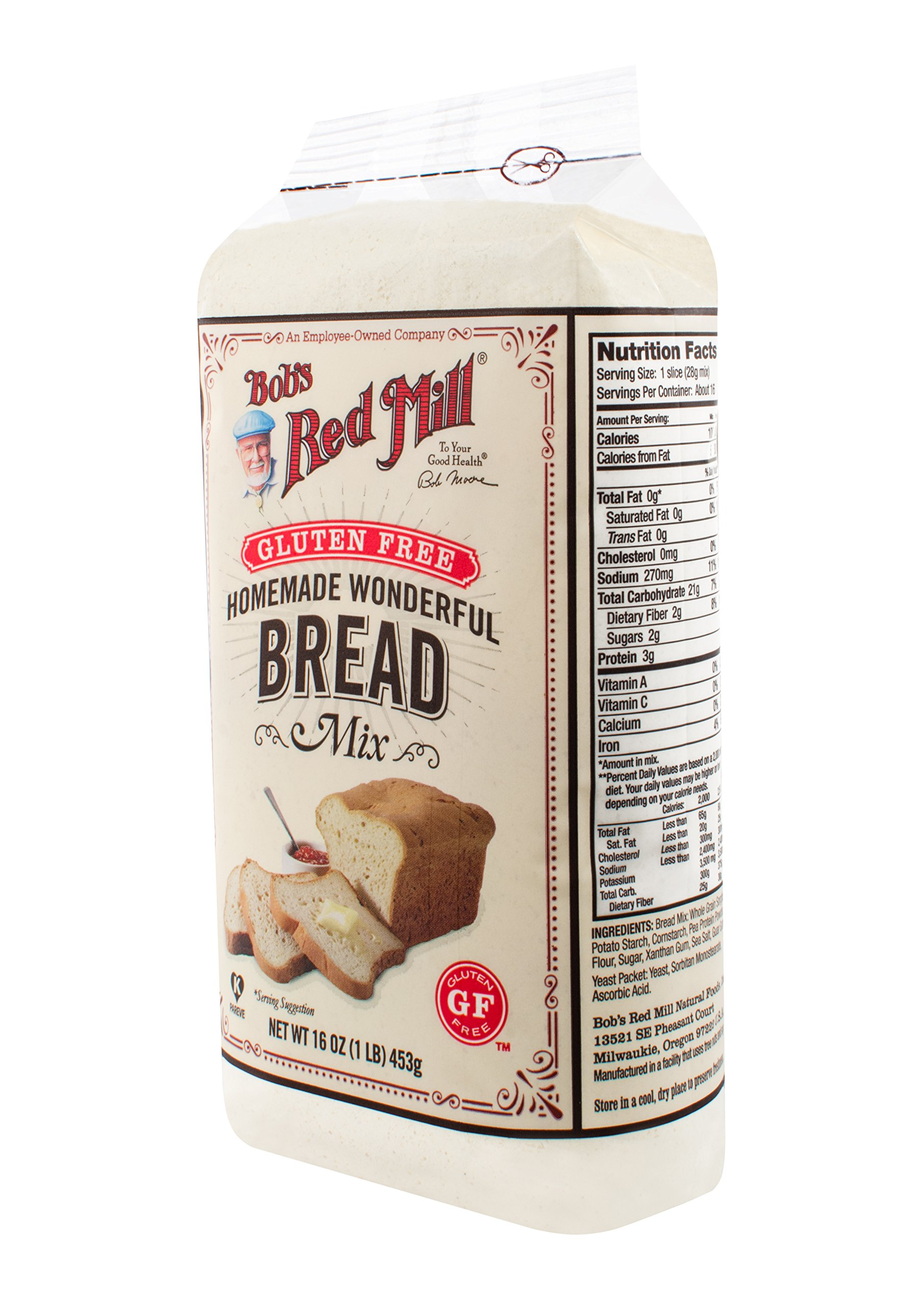 One 16 oz Bob's Red Mill Homemade Wonderful Gluten-Free Bread Mix by Bob's Red Mill (Image #6)