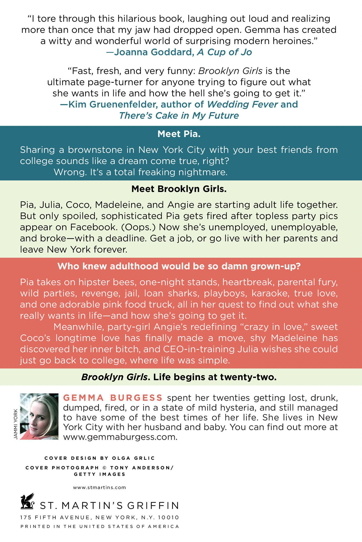 Brooklyn Girls: A Novel: Gemma Burgess: 9781250000859: Amazon: Books