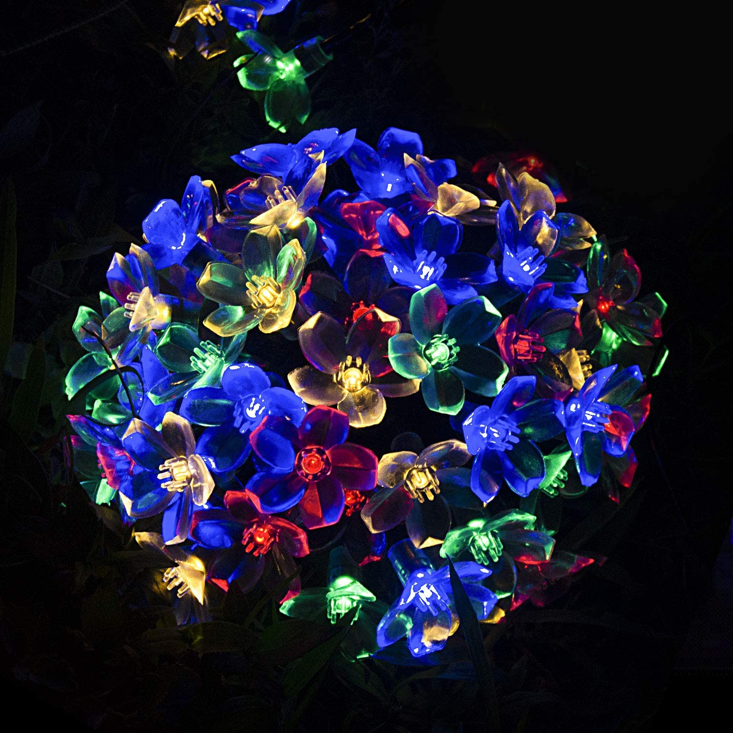 AOPMET Solar String Lights,50 LED Solar Fairy Lights, 32 FT Ultra Long Solar Garden Lights,2 Modes Solar Flower Lights for Outdoor, Home, Lawn, Wedding, Patio, Party and Holiday Decorations-2pack