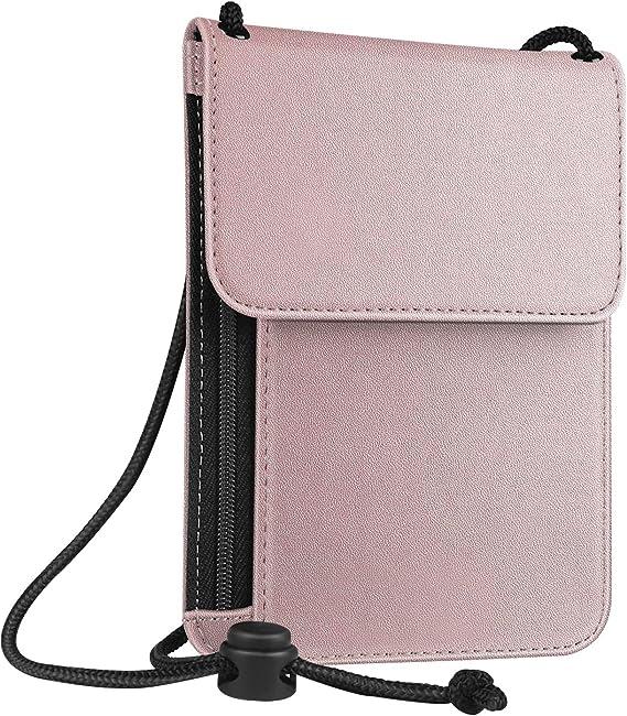 Fintie Passport Holder Neck Pouch [RFID Blocking] Premium PU Leather Travel Wallet