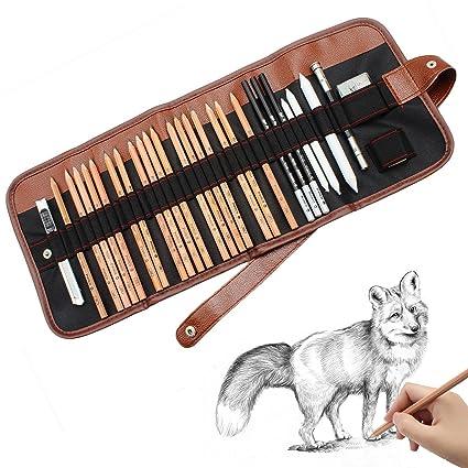 Amazon Com Caroyla Sketch Pencil Drawing Pencil Set 29 Piece
