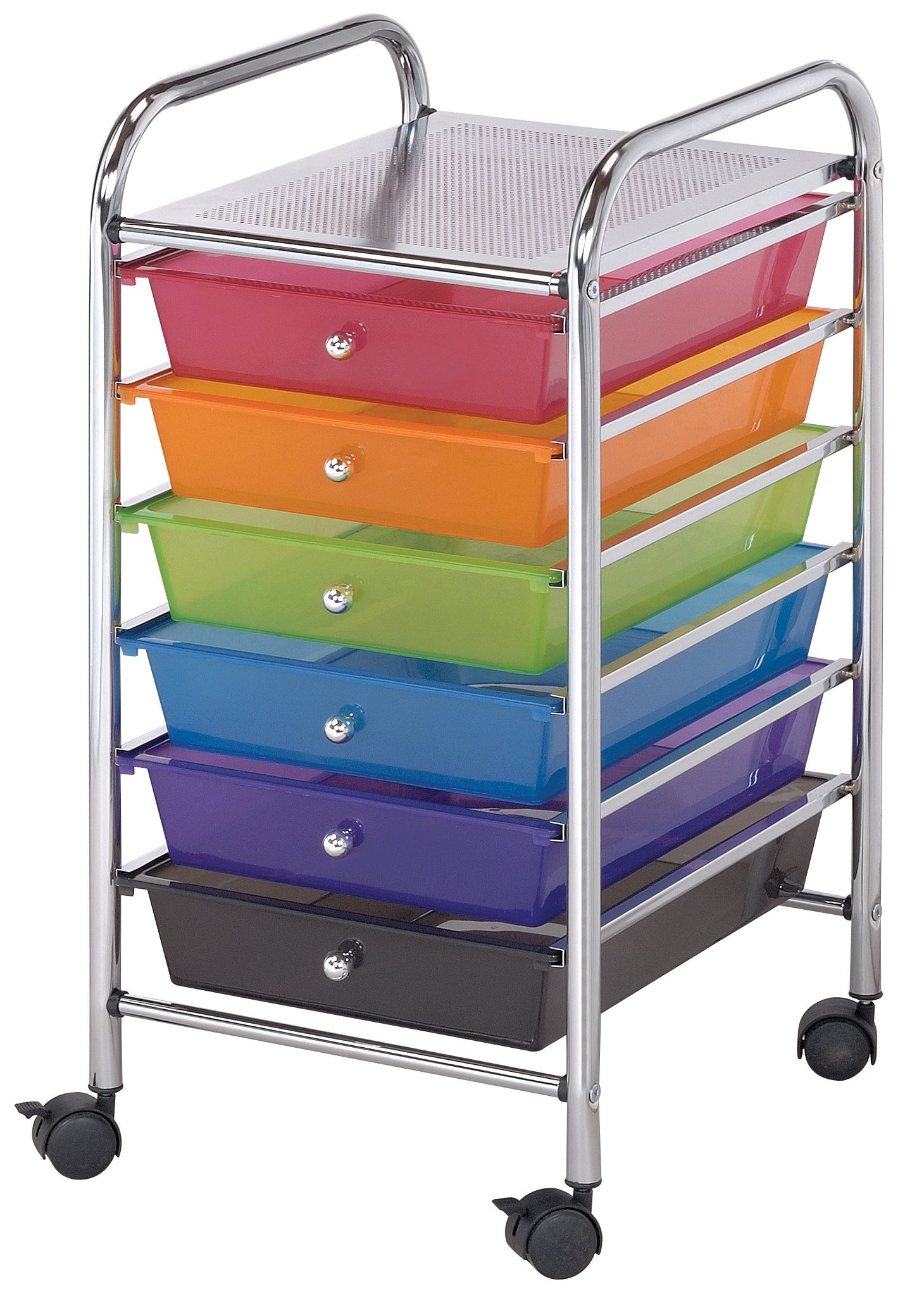 Blue Hills Studio SC62MC Storage Cart 6-Drawer (Standard) Multi-Colored