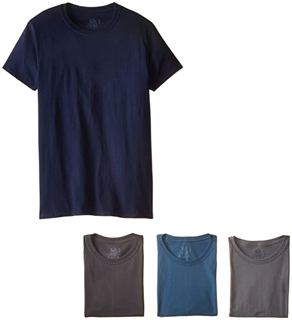 052e5cde4345e7 Amazon.com  Fruit of the Loom Men s Crew Neck T-Shirt Multipack ...