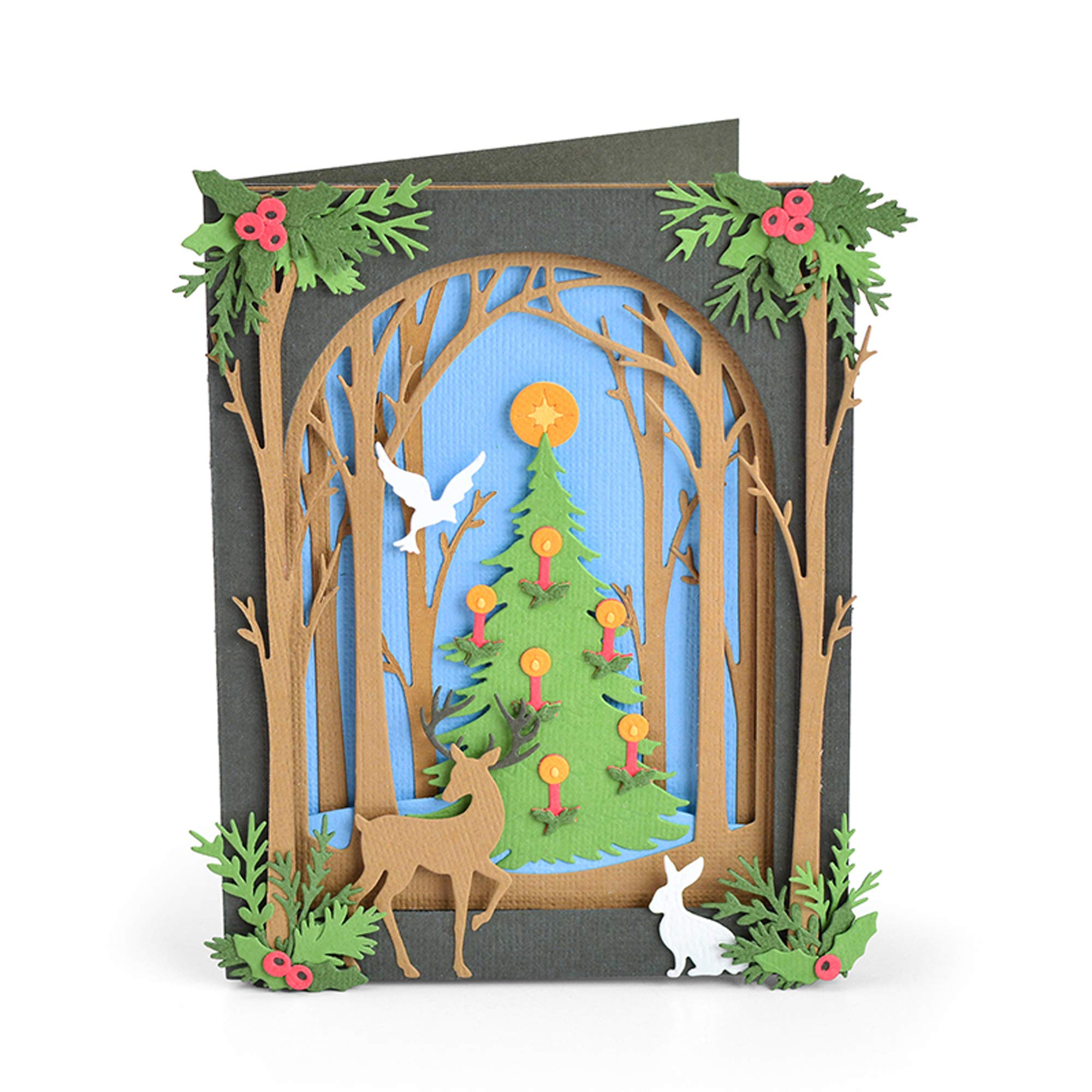 Sizzix 663611 Christmas Shadow Box by Courtney Chilson Dies, us:one Size, Multicolor