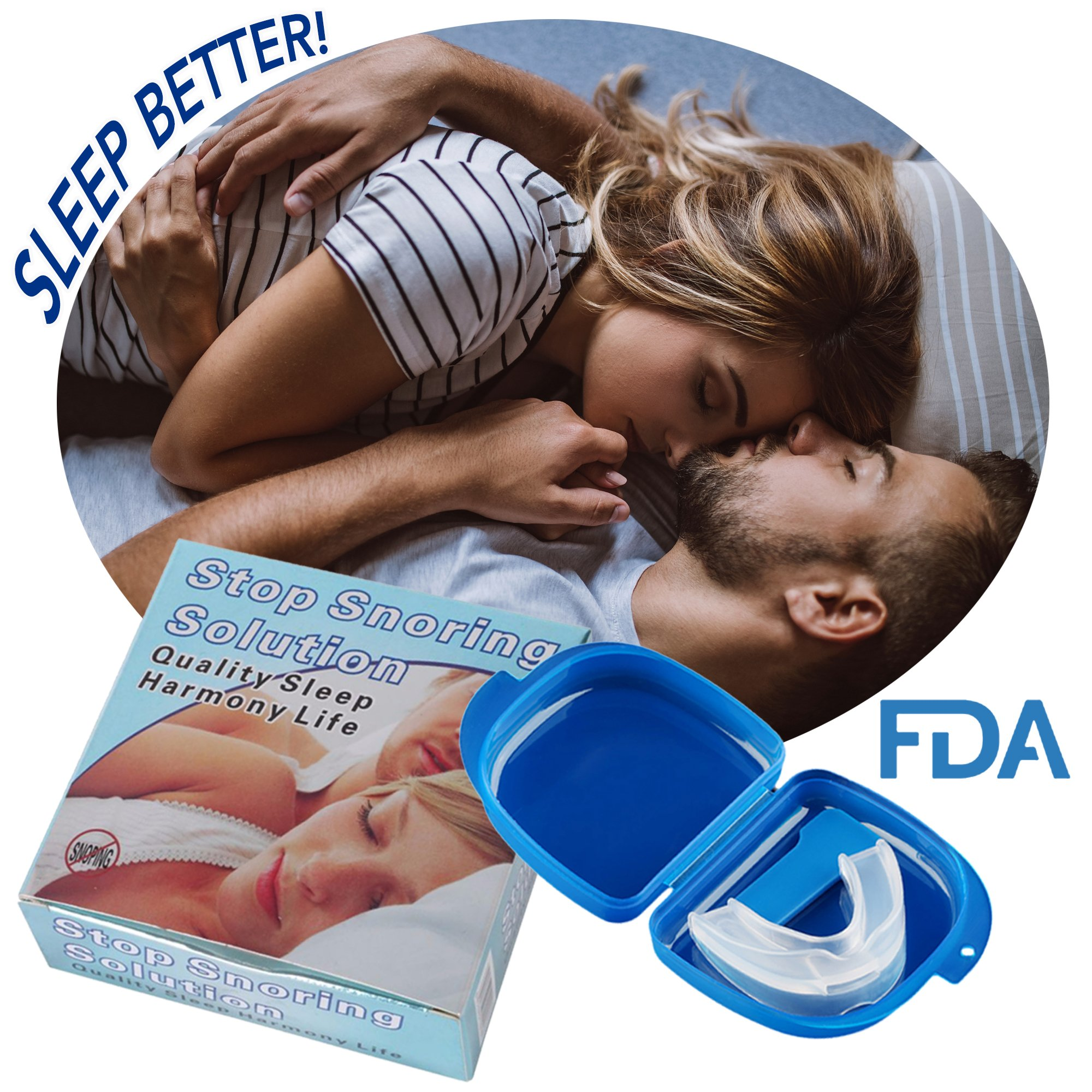 Snoring Solution Anti Snoring Mouthpiece for Men and Women - Snore Stopper Mouth Guard: TMJ Pain Relief and Snore Aid Prevents Snoring- Anti Snoring Device by OSL Supply