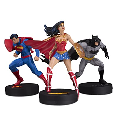 DC Designer Series: Jim Lee Collector Superman, Batman & Wonder Woman 3 Pack Statue Set: Toys & Games